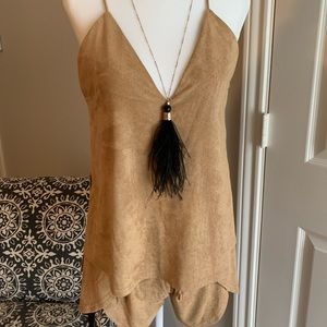 Suede Romper by Sabo Skirt